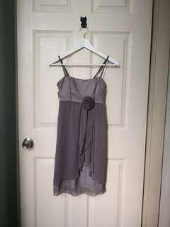Grey dinner dress