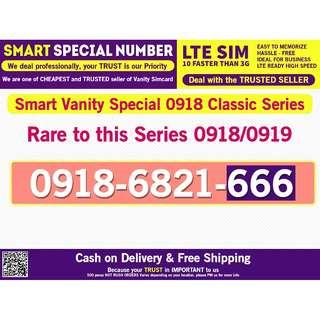 Smart Vanity Special Classic 0918 Number