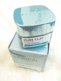l'oreal anti pores pure clay mask