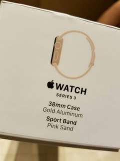 全新Apple Watch Series 3 (38mm + GPS )