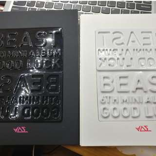 Beast 6th mini album Good Luck (white / black ver)