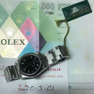 Rolex 77080 369 黑面 有香港出世紙 有買單 Boy size 行走正常