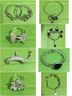 Rings earrings handcuffs