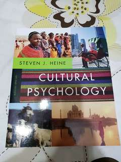 Cultural Psychology - Steven J Heine