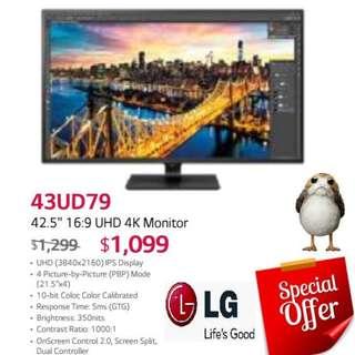 "LG 43UD79 42.5"" 16:9 UHD 4K Monitor.  ( Offer Till...15 Aug 18..Ends )"