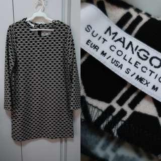 Mango suit long sleeve dress