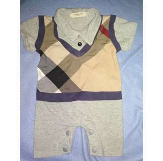 Baby carter's & burberry london bodysuit