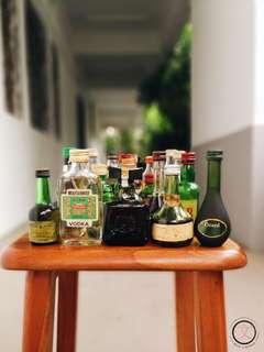 DC064 Miniature Liquor Bottles