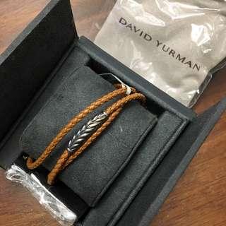 「潮男/型男必備」、「男朋友送禮首選」名牌 david yurman 手繩全新附盒及塵袋、抺布