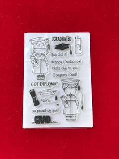 People stamps #16 graduate scrapbook clear stamps