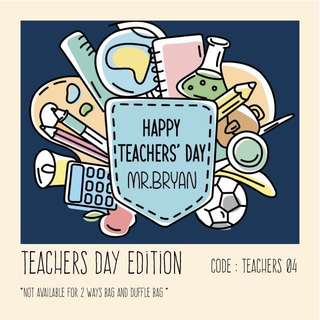 Personalised canvas bag & pouch teachers day gift - teacher04