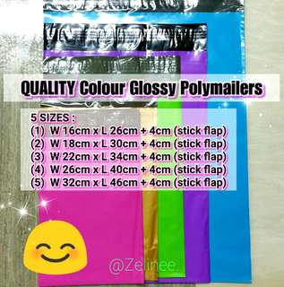 Coloured Quality Polymailers