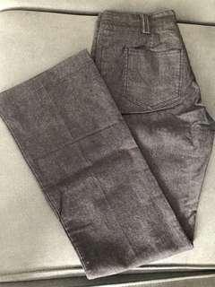 Bess灰色直腳褲