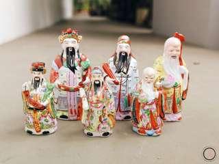 DC053 3 sets Fu Lu Shou figurines 福禄寿