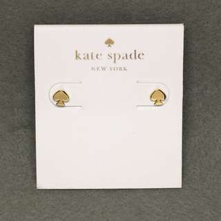 Kate Spade sample Earrings 金色經典logo耳環