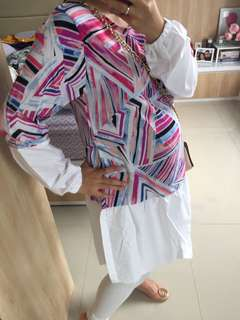 Pink Abstract Tunik