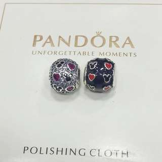 Pandora disney mickey and minnie mouse charm