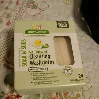 Baby Ganics Cleansing washcloths
