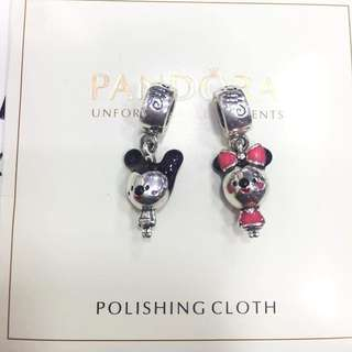 Pandora disney charms - mickey and minnie mouse