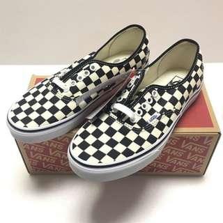Vans Authentic Golden Coast / Checker Black White