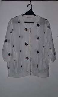 White Blouse with Embroidered Design