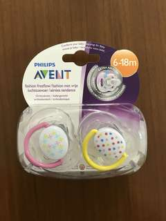 🆕Avent Free Flow Pacifier 6-18m