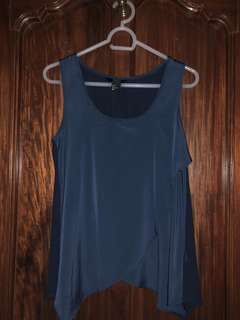 H&M navy blue sleeveless top