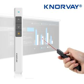 Knorvay N26C Wireless Presenter 2.4GHz Remote Control Powerpoint Clicker Red Laser Pointer Flip Pen With USB Receiver