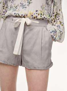 Aritzia Wilfred Allegra Linen Shorts in Ashen