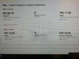 One way ticket to Sapporo on Scoot