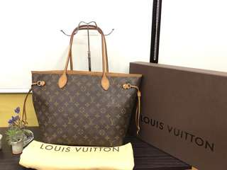 Authentic Louis Vuitton Neverfull MM in Monogram