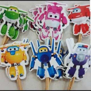 Super wings 24pcs Cake/ Cupcake Topper for Party Decoration