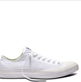 Converse original off white with white and black shoe lace