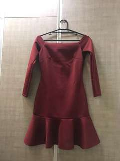 Apartment 8 Off shoulders red dress