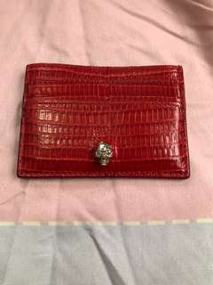 McQueen card holder. Red. 前後共4格。有包裝盒