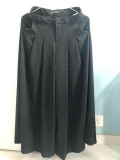 (100% New) 黑色闊褲/裙褲