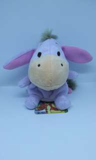 "Brand New 4.5"" Disney Eeyore Donkey Figurine Plush Stuffed Soft Toy Beanbag"