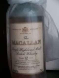 陳年麥卡倫12年威士忌酒辦一支,水位見圖。