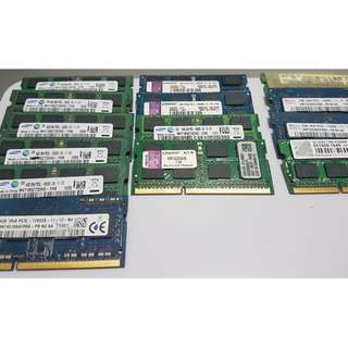 DDR3 ram (Desktop & Laptop) - bundle sell only