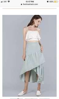 TTR Yule Tiered Skirt in Sage Green S