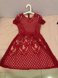 Red Lace Dress #july50