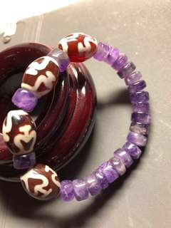 天珠,紫晶,寶瓶+紫晶,手鏈
