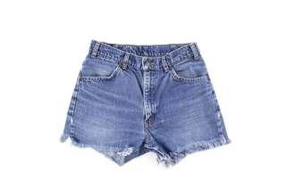 Distressed 619 Levi's Denim Shorts