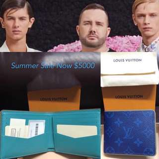 SPECIAL 💙BLUE 💙LOUIS VUITTON💙 KIM JONES 2018 SUMMER LIMITED EDITION 100%REAL