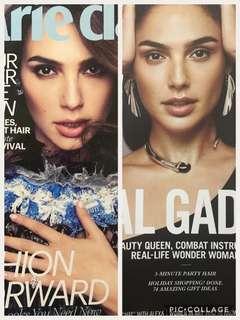 Gal Gadot Marie Claire & Elle Magazine Bundle