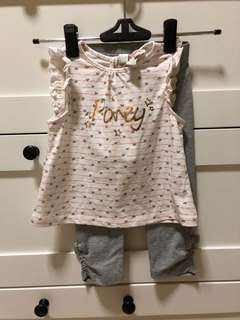 BNWT Baby Poney Basic Suit Set