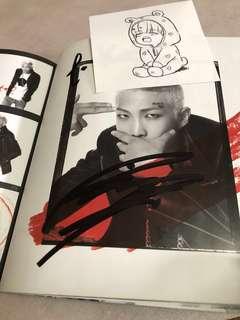 BTS 親筆簽名 dark & wild fan sign signed Album