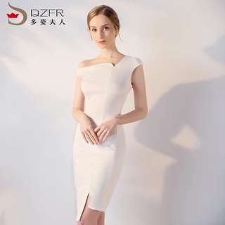 Brand New Premium Quality White Executive Dinner Dress (Rent)