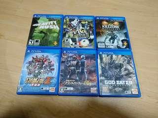 PS Vita Games for sell! P4G, Gravity Rush, Killzone Mercenary