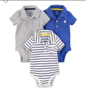 🚚 *6M & 12M* Brand New Carter's Polo Bodysuits For Baby Boy